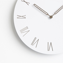 Creative MDF Wooden Wall Clocks Modern Living Room Home Wall Decor Round Wood Silent Hanging Clock Roman Large Numbers 12 Inch