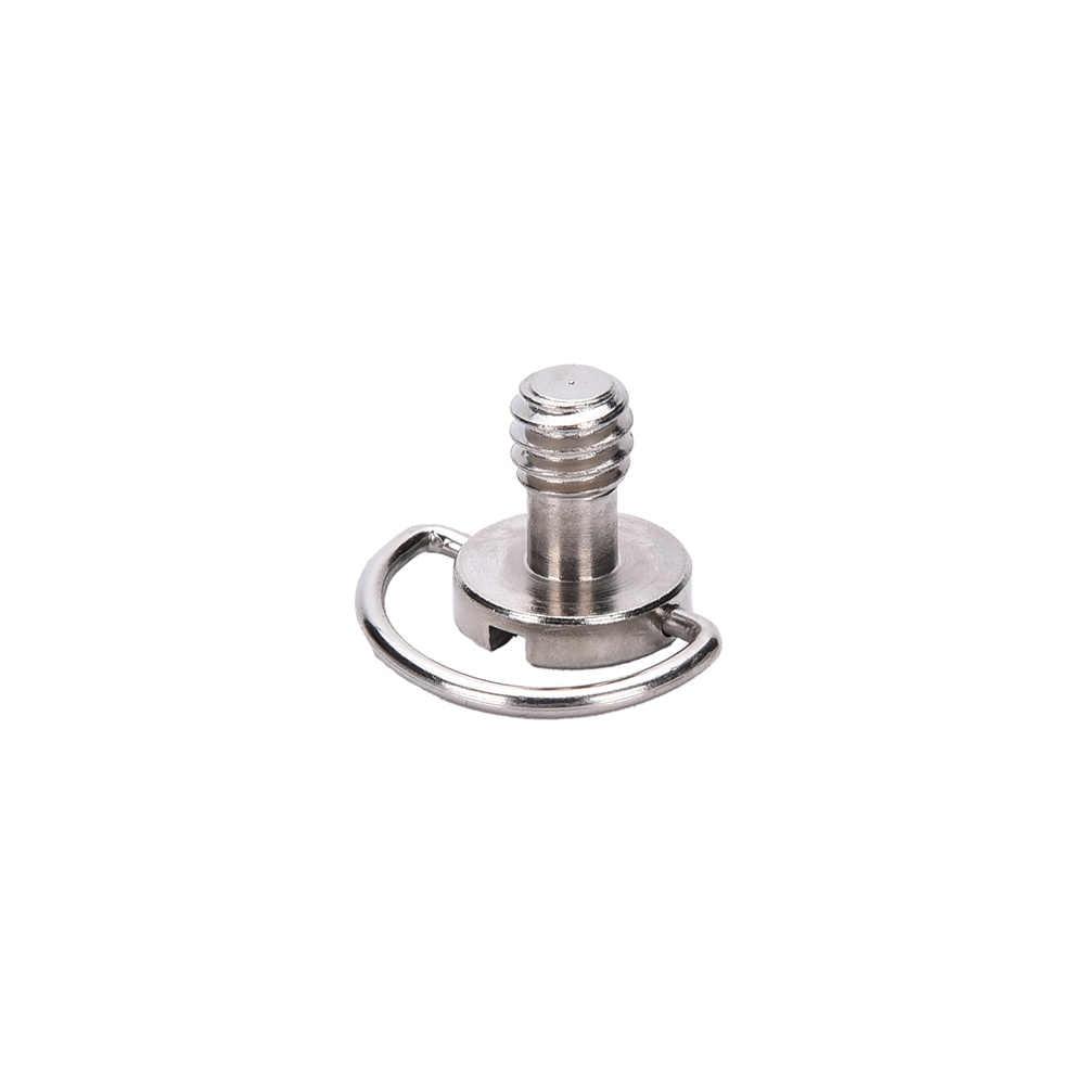 Screw for Quick Plate for Mini Tripod Captive 1/4 Inch Folding D-Ring Adapter Screw  Tripod Monopod Quick Release Plate