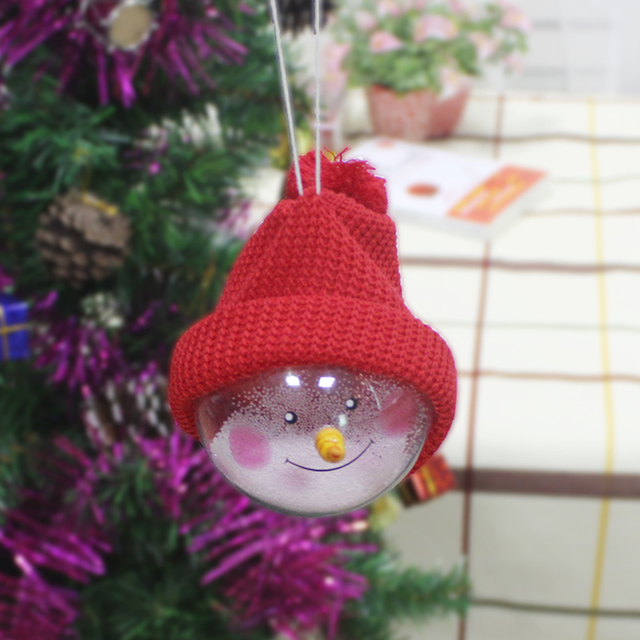 Merry Christmas Children Toy Hanging Tree Christmas Ball Ornament With Hat  Xmas Garden Decor 15*