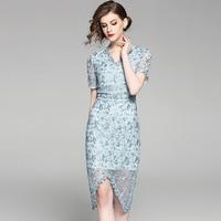 Пикантные вечерние платье Для женщин Летние Deep V шеи Кружева платья мода вышивка платье длиной до колен