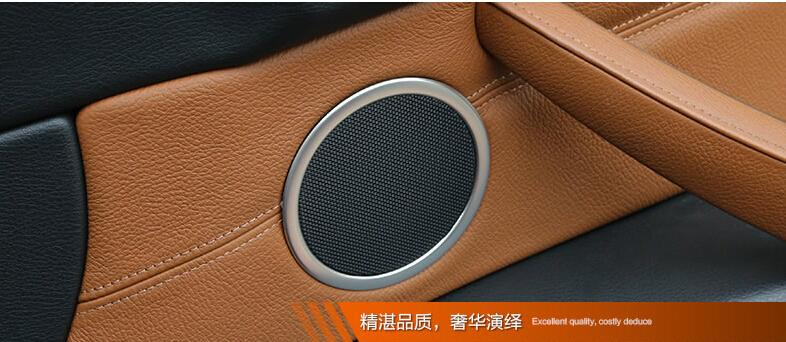 Interior Side Door Speaker Decoration Cover Trim 6pcs/set Car styling For BMW X6 E71 2011 2012 2013 2014 купить