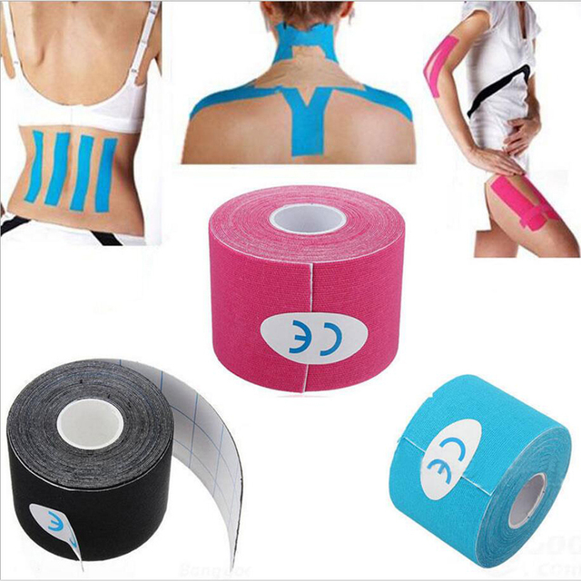 Fashionable 5cm x 5m Sports Muscle Stickers Tape Roll Cotton Elastic Adhesive Muscle Bandage Strain Injury Support