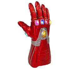 Marvel Avengers 4  Iron Man Endgame Infinity Gauntlet LED Gloves Cosplay PVC Adult Kids Arms Superhero Weapon Prop