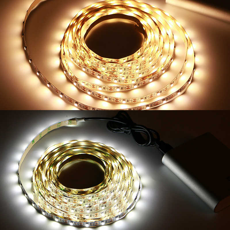 5 в USB светодиодные полосы света Tira светодиодный RGB/белый/теплый белый HD ТВ Настольный ПК экран подсветка и светильник 1 м 2 м 3 м 4 м 5 м