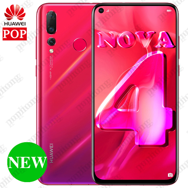 5199c022a ... NEW HUAWEI NOVA 4 Smartphone 6.4 inch Full Screen Kirin 970 Octa Core  Phone 8G RAM ...
