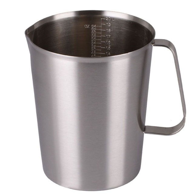 a1eb779fce0 Kitchen Useful Tools 1PC 500ml/1000ml/1500ml New Stainless Steel Cup  Graduated Glass Liquid Measuring Cups Accessories