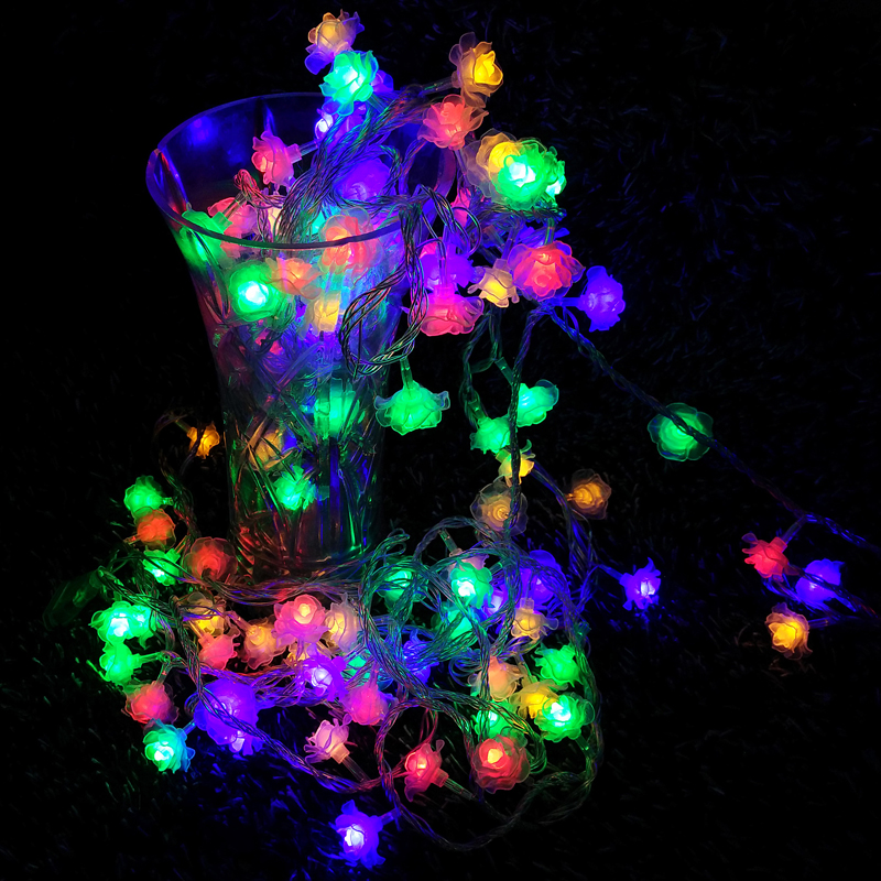 Waterproof 20M 200 LED holiday String lighting, 220v RGBY Rose Fairy Christmas Festival Wedding Party Outdoor Decoration light