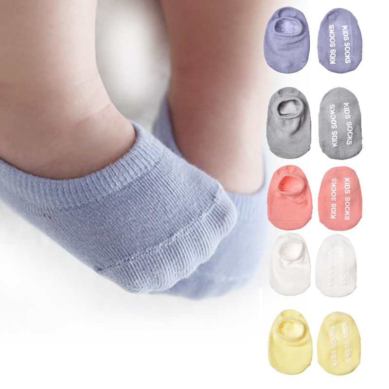 4pairs/Lot Candy Color New Born Baby Sock Floor Short Anti Slip Ankle Socks For Infant Boys Girls Solid Color