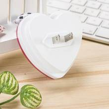AKDSteel LED Plug-in Cute Heart Shape Night Light Lamp with Smart Light Sensor for Hallway Kitchen Bathroom Decoration US Plug(China)