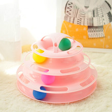 Cat Toys Intelligence Funny Pet Toy Triple Play Disc Ball Crazy Balls Disk Interactive for IQ Training Hot Sale