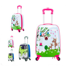 12+18 Inch Cartoon Travel Luggage for Children ABS A set Bag for Boy Girls Suitcase Trolley Case with Wheels Kids Party Presents