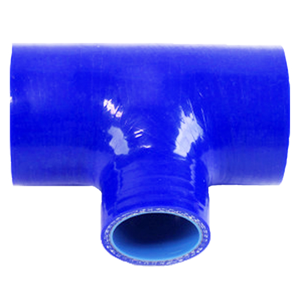 Universal Length:130mm*35mm ID:76mm ID:3'' T Piece Silicone Hose T Shape Tube Air Filter Silicone Hump house pipe BOV3 image