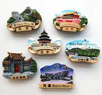 Beijing, China, Bird's Nest Hutong Great Wall Temple Of Heaven Fridge Magnets Tourism Souvenirs Refrigerator Magnetic Sticker