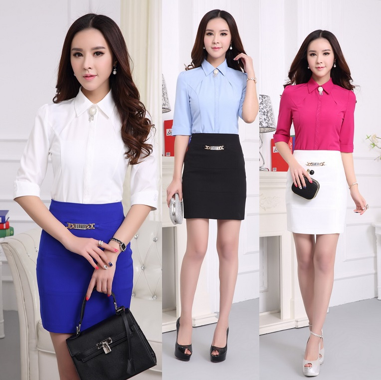 New 2015 Summer Female Work Wear Office Suits Formal Uniform ...