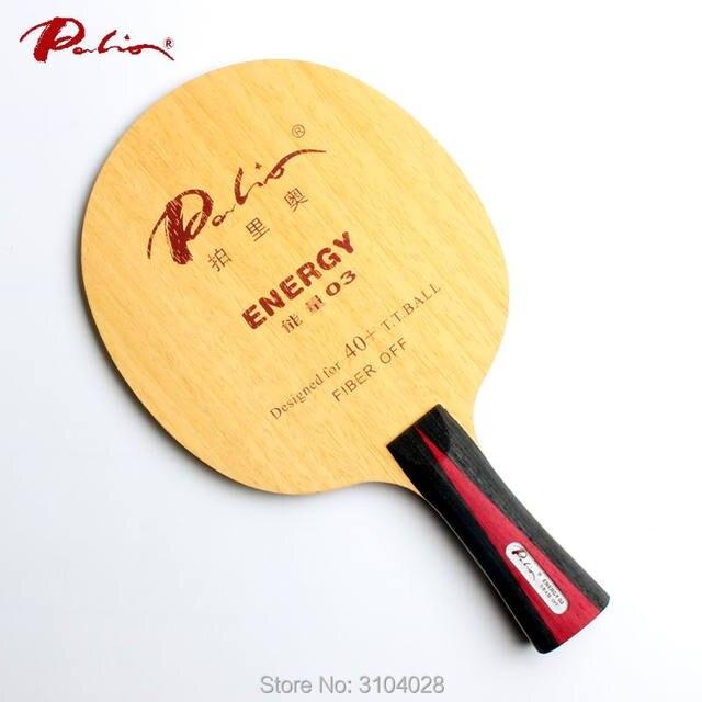 Palio Hoja de tenis de mesa oficial energy 03, especial para más de 40, nuevo material, raqueta de tenis de mesa, bucle de juego y ataque rápido de 9 capas