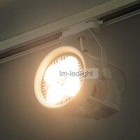 Par30 E27 LED track lighting 30w in white / black track head 85 265V Bridgelux warm / neture / cold white spotlight 10pcs/lot