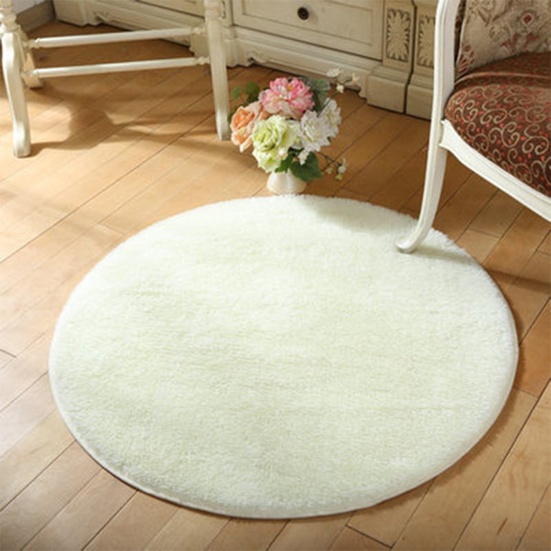 brand new round fluffy rugs antiskid shaggy dining room home bedroom carpet floor - Fluffy Rugs