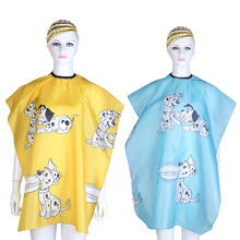 Kid Cartoon Dog Dressing Cape Salon Gown Cover Barber Hairdresser Hair Cut Cloth Hairdresser Hair Styling Tools Waterproof Cloth