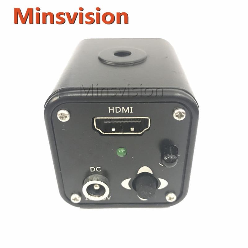 HD 1080p HDMI Industrial Camera Microscope CCD Camera 60f s 1080p full hd hdmi industrial video microscope camera ir remote control for repair iphone pcb bga