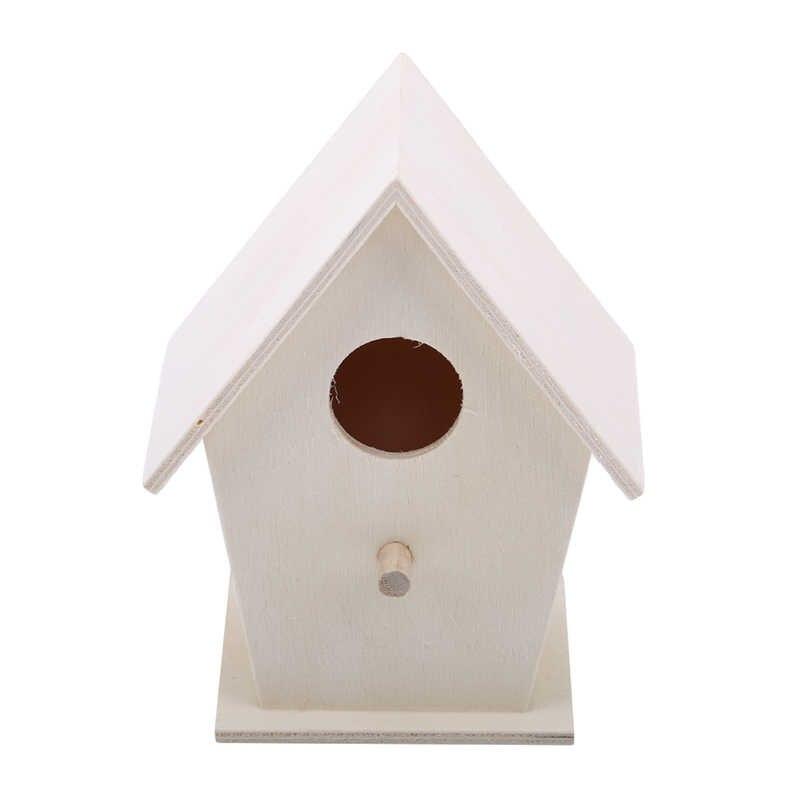 Подвесное на дереве или клетке Птичье гнездо из натурального дерева дом Креативный в форме сердца настенное крепление попугая