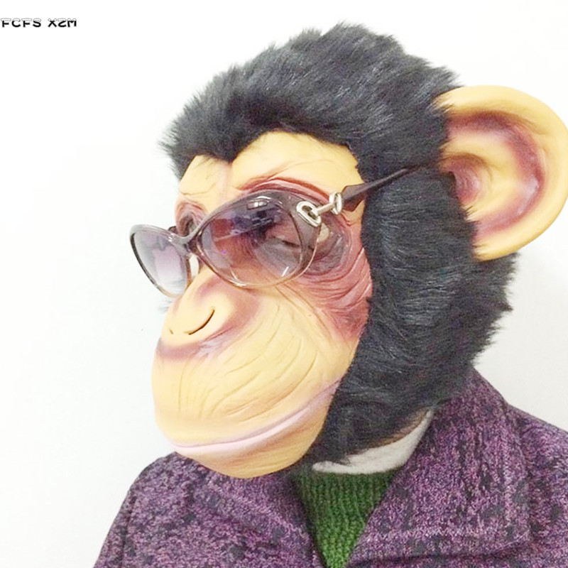 Latex gorilla cosplay mask Rise of Planet of the Apes Halloween masquerade Monkey Animal Costume Carnival Purim Rave Party masks