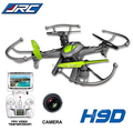 Free Shipping 2015 New Version JJRC H9D 2.4G 4ch 6 Axis 360 Flips RC Quadcopter Drone w FPV Camera LCD Monitor RTF RC Helicopter