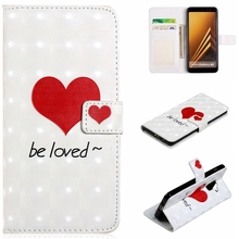 For Samsung Galaxy A3 A5 2017 A6 A7 A8 2018 Plus Fashion Colorful Style Love 3D Wallet Leather Case Flip Stand Mobile Phone Bag mooncase cross pattern flip pouch leather wallet slim stand чехол для samsung galaxy a3 hot pink