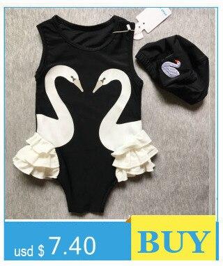 Fashion Toddler Kids Baby Girl Swan Bikini Swimwear One Piece
