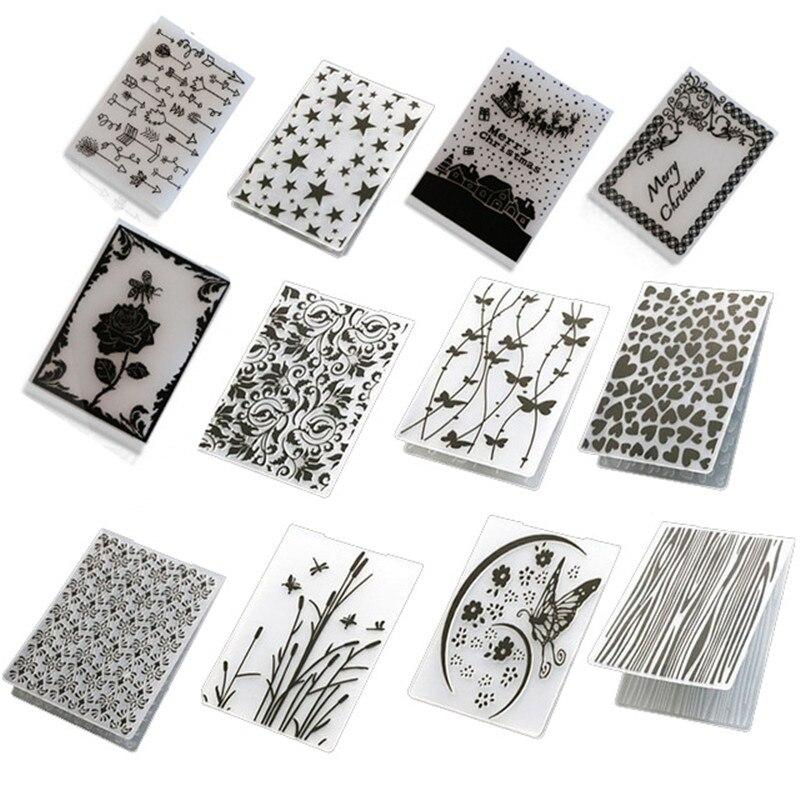 Leaves Plastic Embossing Folder Template DIY Scrapbook Paper Card Craft