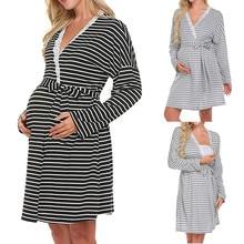 Женское платье для беременных, ночная рубашка для кормящих, ночная рубашка для кормящих грудью, одежда для сна, ночная одежда для беременных, пижамы, одежда для сна для женщин