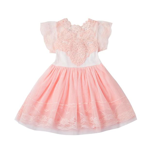 Lave de tul Vestido de Las Muchachas Niños Vestidos Casuales para ...