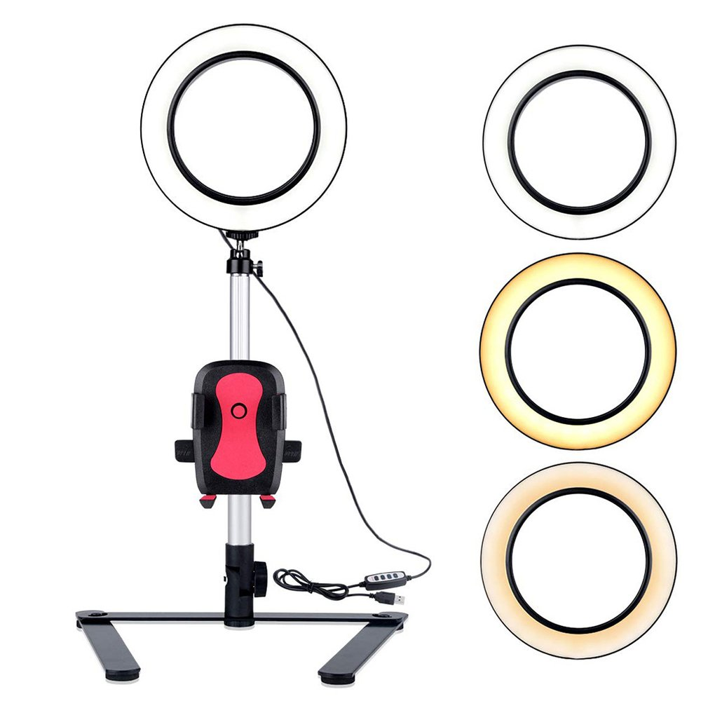 7.9 Inch Phone Holder Universal Table Bracket Mount Stand Clip with Fill Light LED Flash Loop For Mobile Phone Holders7.9 Inch Phone Holder Universal Table Bracket Mount Stand Clip with Fill Light LED Flash Loop For Mobile Phone Holders