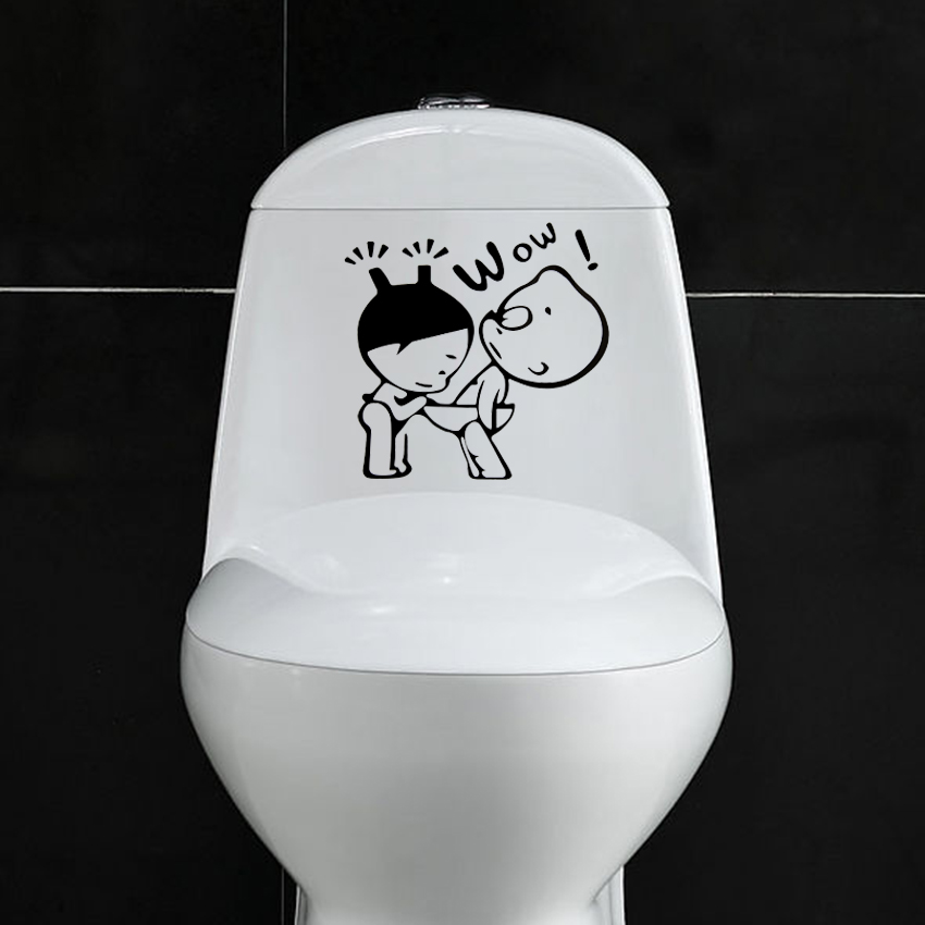 1 pcs funny bathroom decor home decoration creative toilet for Decoration wc