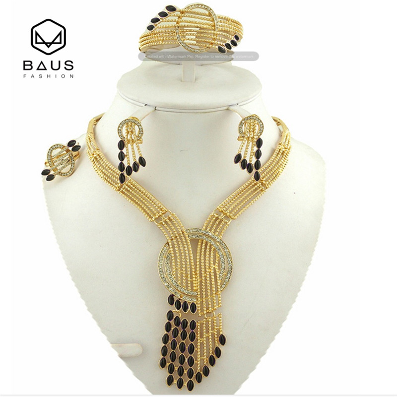 Fashion Eritrea Dubai indian arabic gold jewelry Set Ethiopian gold color Nigerian wedding african beads jewelry set for women цена