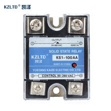 Kzltd SSR 100AA ac الحالة الصلبة التتابع 100a AC AC ترحيل 100a ac تتابع الحالة الصلبة ل درجة عالية الجودة ريلايس