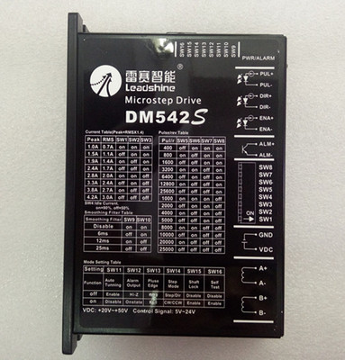Leadshine New 2-phase Digital Stepper Drives <font><b>DM542S</b></font> add more functions Auto Tunning 5-24V signal CW/CCW choose suit NEMA23 motor image
