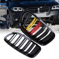 POSSBAY Front Center szeroki jedna para nerek kaptur wyścigi kratki połysku  maskownica do BMW 5 Series F11 Touring 2010/2011  2016 w Kratki wyścigowe od Samochody i motocykle na