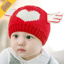 0-2y Newborn Infant Baby Girls Boys Angle Wing Crochet Hat Bebe Beanies Hat Caps Photo Prop Acessorios Outfit