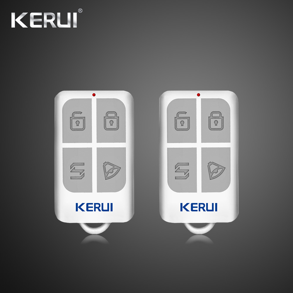KERUI Home Wireless Portable Remote Control Kit 433MHz Alarm Accessories For Home Security Alarm System Touch Keypad fuers wireless metallic remote control keychain for wireless alarm system security system alarm camera