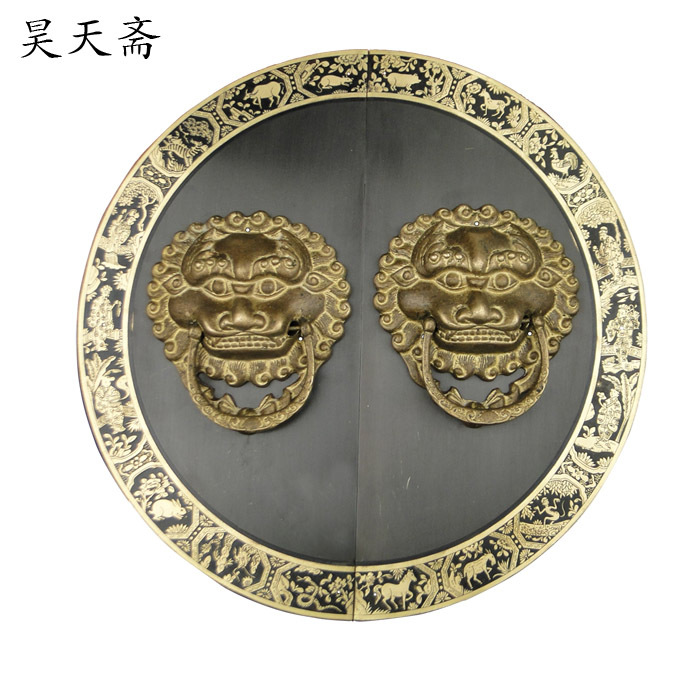 [Haotian vegetarian] Chinese ancient beast head knocker door handle copper ring copper door handle HTA-090 selenga hd860d 2003