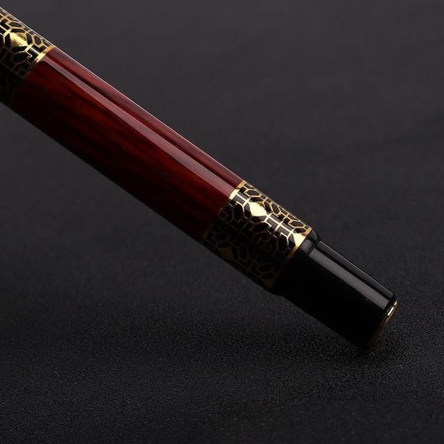 1pcs di Alta qualità classica penna stilografica in legno grano di alta qualità di affari della penna del metallo penna stilografica firma 5