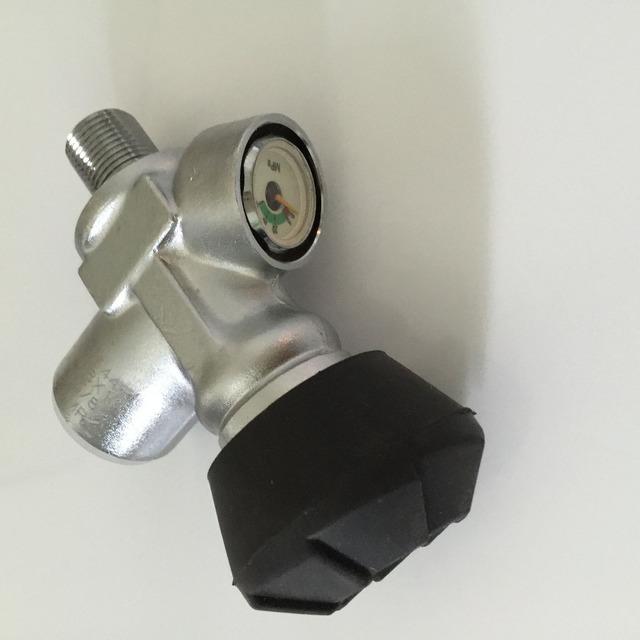 China Fornecedores Válvula 4500psi de Alta Pressão Do Cilindro de Gás 30Mpa Válvula Do Cilindro De Fibra De Carbono para PCP Pistola de Ar Rosca M18 * 1.5