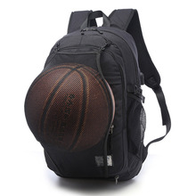 Daddy Chen Basketball Backpack with The USB Cable Outdoor Bags Gray Black Canvas 30*15*48cm Sport Bags for Men