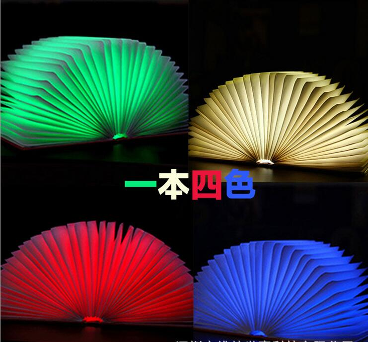 small size Folding LED Nightlight Creative LED Book Light Lamp Best Home Novelty Decorative USB Rechargeable Lamps colorful