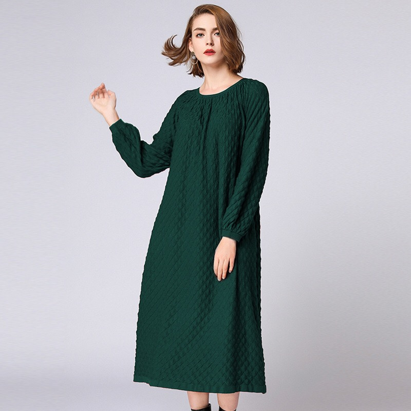 2018 Autumn Woman Dress Elegant Maternity Dress Casual Pregnancy Dress Print Plus Size Dress Boat Neck Long plus v neck palm print dress