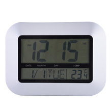 On sale Multi-Function Digital Wall Clock Desktop Digital Thermometer Indoor/Outdoor Temperature Tester