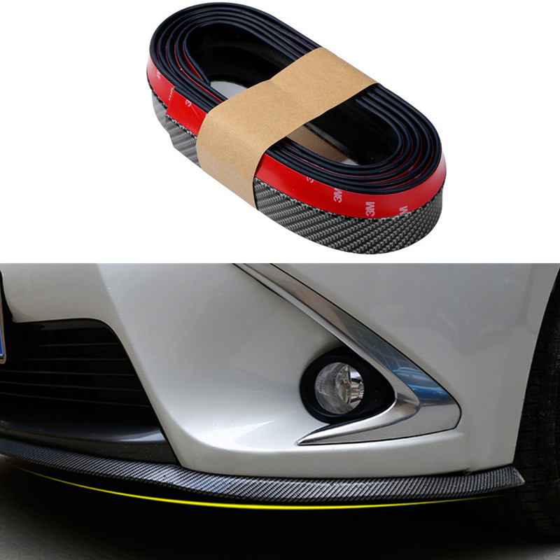 Car Stylling Rubber Skirt Carbon Front Lip Bumper Decoration For BMW E46 E52 E53 E60 E90 E91 E92 F01 F30 F20 F10 F15 F13 M3 M5 image