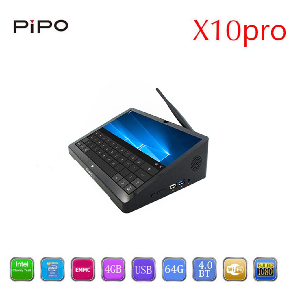 PIPO X10pro Windows 10 Android 5.1 Smart TV Box intel Z8350 Quad Core 4GB RAM 64GB ROM Set Top Box Support Bluetooth4.0 HDMI 2.0 ...