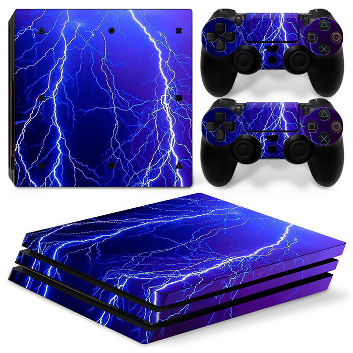 Video Game Accessories Hot Sale Blue Fire 256 Vinly Skin Sticker Sony Ps4 Playstation 4 And 2 Controller Skins