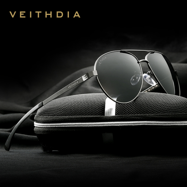 VEITHDIA gafas de sol polarizadas para hombre, lentes de sol masculinas de magnesio y aluminio de diseño de marca de moda, 3801